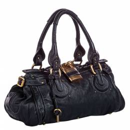 Chloe Black Calfskin Leather Paddington Bag