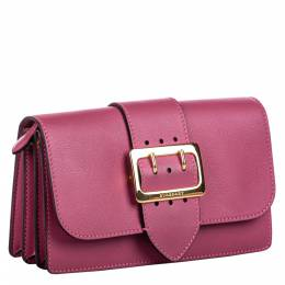 Burberry Pink Leather Buckle Crossbody Bag
