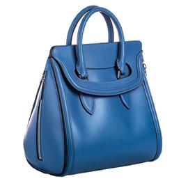 Alexander McQueen Blue Large Leather Heroine Bag 281561