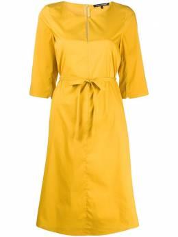 Luisa Cerano платье миди с завязками 7181411413