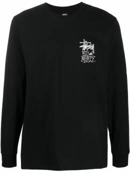 Stussy футболка с длинными рукавами и логотипом 1994525