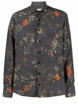 Etro рубашка с цветочным принтом 129084732