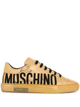 Moschino кроссовки с эффектом металлик и логотипом MA15022G1AME0