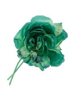 Alessandra Rich брошь с цветочной аппликацией FABA2072F2882