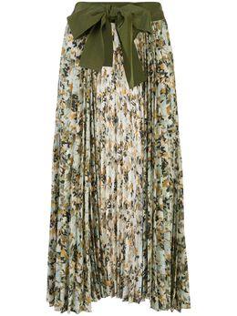Silvia Tcherassi плиссированная юбка Blanche с цветочным принтом BLANCHESKIRT