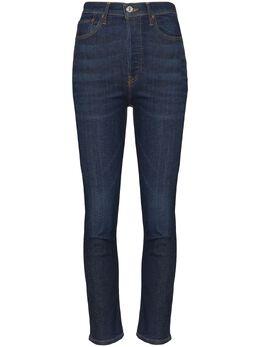 Re/Done укороченные джинсы скинни с завышенной талией 1633WUHRC