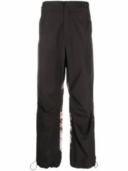Maharishi брюки с кулиской и вышивкой 8586PBLACK