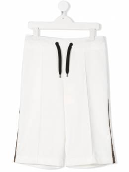 Fendi Kids спортивные шорты с талией на шнурке JMF252A69D
