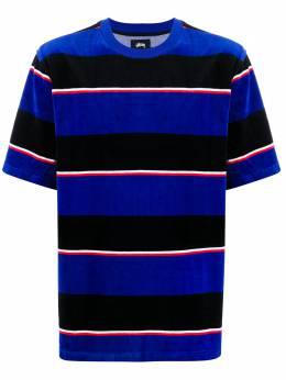 Stussy полосатая футболка с круглым вырезом 1140196CIBLUE