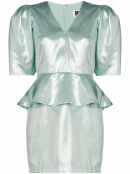 Rotate платье Mindy с баской и эффектом металлик 900651