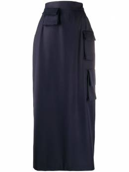 Natasha Zinko юбка прямого кроя с накладными карманами R2030502