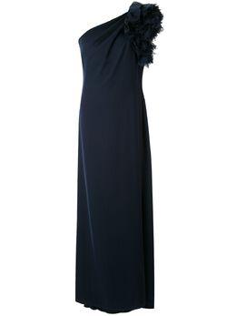 Tadashi Shoji креповое вечернее платье на одно плечо ALG18787L