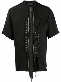 Dsquared2 футболка со шнуровкой и молнией S71GD0911S52810