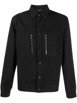 Neil Barrett джинсовая рубашка с вышивкой PBCM1284TN006T