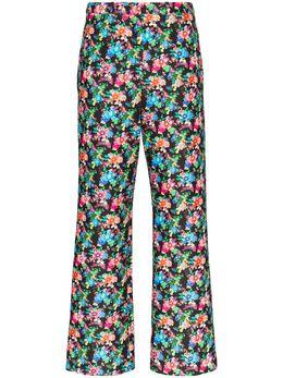 Paco Rabanne брюки кроя слим с цветочным принтом 20ECPA068CO0337