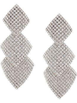 Alessandra Rich декорированные серьги-подвески с кристаллами FABA2035J004