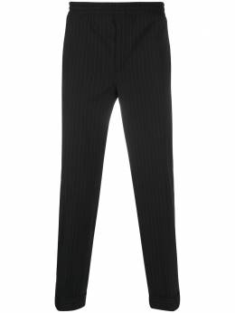 Neil Barrett зауженные брюки в тонкую полоску PBPA635N021