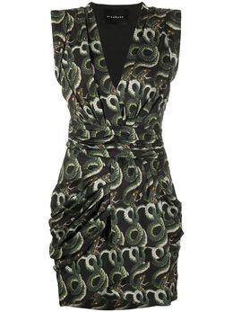 John Richmond короткое платье со змеиным принтом RWP20441VE