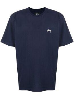 Stussy футболка с вышитым логотипом 1140194