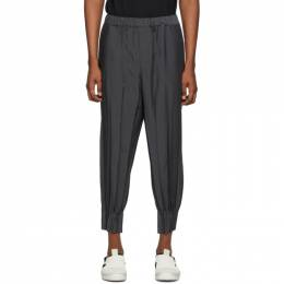 Issey Miyake Men Grey Chambray Wrinkle Trousers ME06FF152