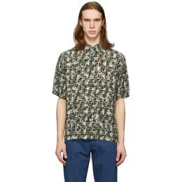 Fendi Green Camo Forever Fendi Short Sleeve Shirt FS0770 ABLK
