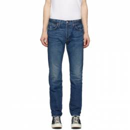 Re/Done Blue Straight Fit Jeans 301-3MSTR