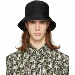 Fendi Black Mono Eye Bucket Hat FXQ801 AA0Y