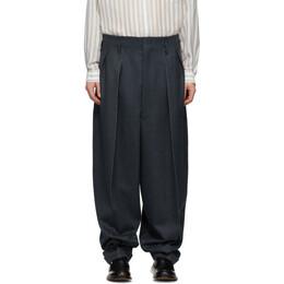 Maison Margiela Blue Wool Balloon Trousers S29KA0329 S52943