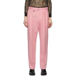Maison Margiela Pink Wool Pleated Trousers S29KA0343 S52969