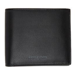 Bottega Veneta Black Calfskin Bifold Wallet 605721 VMA82