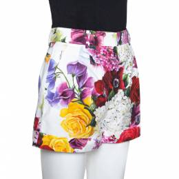 Dolce&Gabbana Multicolor Floral Printed Cotton Shorts S