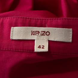 Kenzo Pink Cotton Puff Sleeve Blouse L 281371