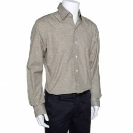 Tom Ford Brown Animal Print Cotton Button Front Shirt XL 281190