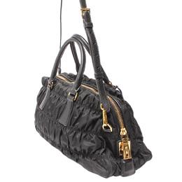 Prada Black Tessuto Gaufre Nylon Nero Shoulder Bag