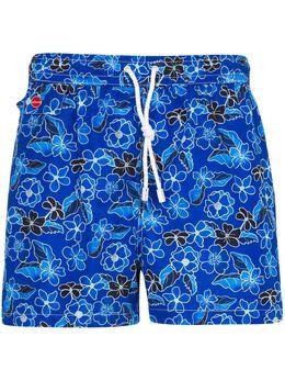Kiton flower print swim shorts UCOM2CX08S1416009