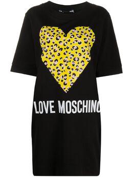 Love Moschino платье-футболка с логотипом W5B5801M4183