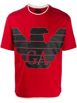 Emporio Armani logo crew neck T-shirt 3H1TM01JCQZ