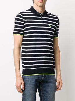 Emporio Armani striped logo polo shirt 3H1MYC1MMXZ