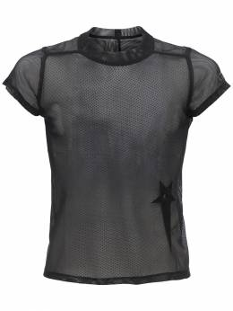 Champion Cropped Sheer Mesh T-shirt Rick Owens 71IXSI004-MDk1