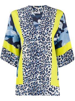 P.a.r.o.s.h. leopard print oversized blouse D311306