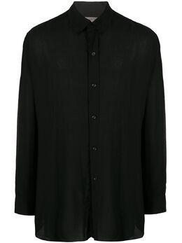 Yohji Yamamoto рубашка оверсайз с многослойным воротником HNB10201