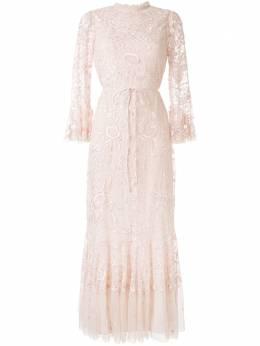 Needle & Thread вечернее платье с цветочной вышивкой DR0018CR20PRR