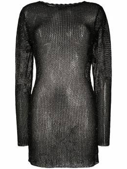 Alanui трикотажное платье с пайетками LWHI019S20KNI0011212