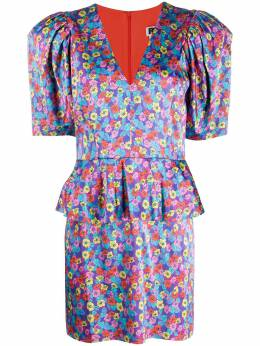 Rotate платье Mindy с цветочным принтом и баской 900622