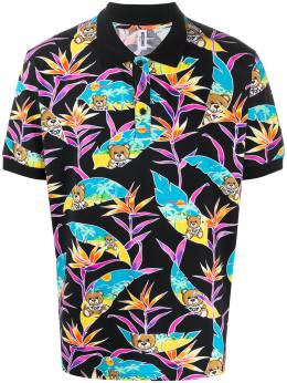 Moschino tropical teddy print polo shirt A13022316