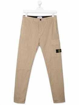 Stone Island Junior брюки карго прямого кроя MO721630712