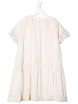 Alberta Ferretti Kids платье с короткими рукавами 024313