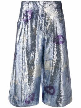 Jacquemus укороченные брюки с пайетками и цветочным узором 201PA02201