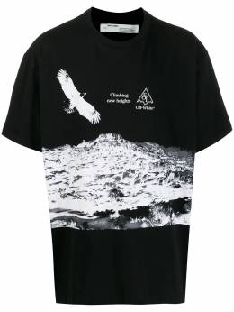 Off-White Climbing new Heights print T-shirt OMAA038S201850161001