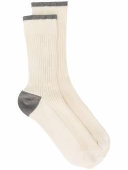 Brunello Cucinelli носки с контрастной вставкой MCS93511CC785